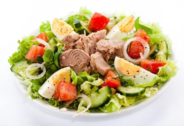 bauchfett weg thunfisch eier salat