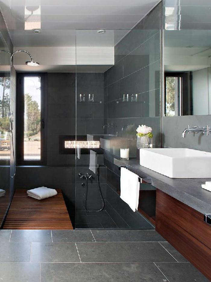 Begehbare Dusche Fußbodenheizung : Eine Moderne Begehbare Dusche Fußbodenheizung Realisiert Mit Pictures
