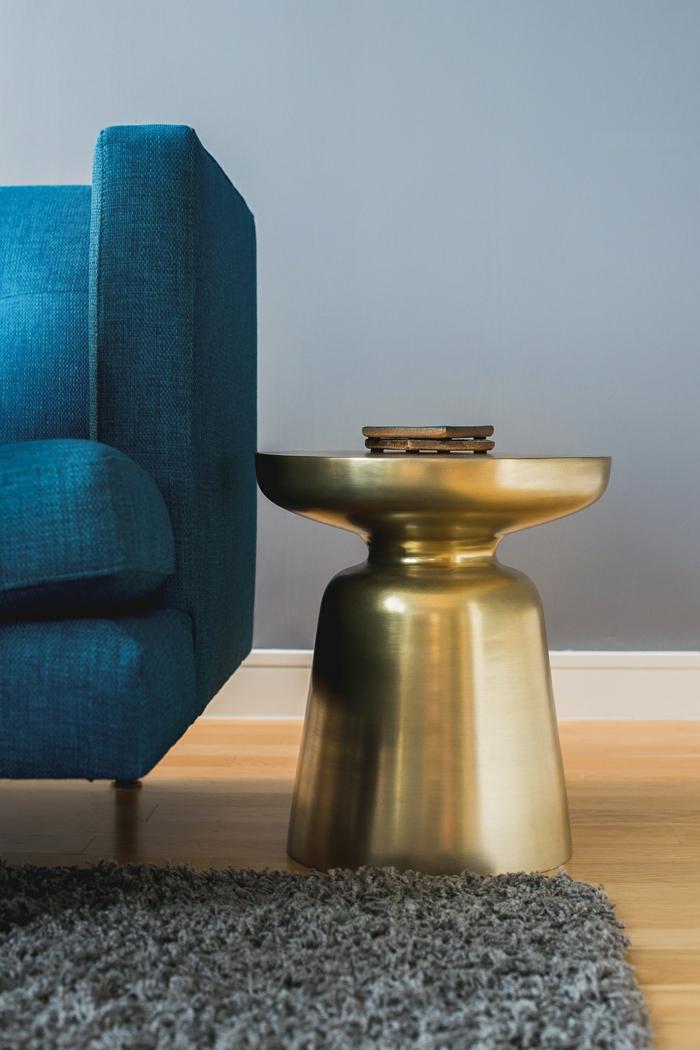 beistelltisch design martini gold