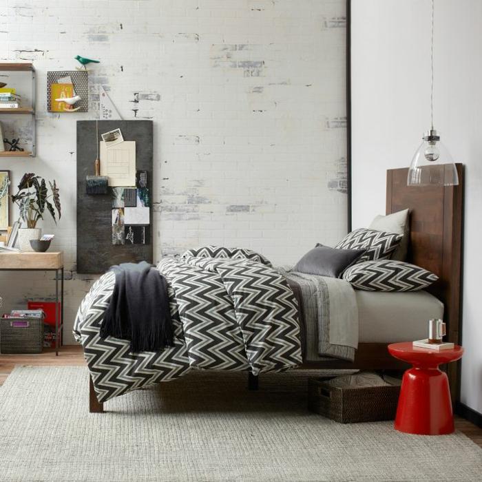 beistelltisch design martini rot schlafzimmer nachttisch