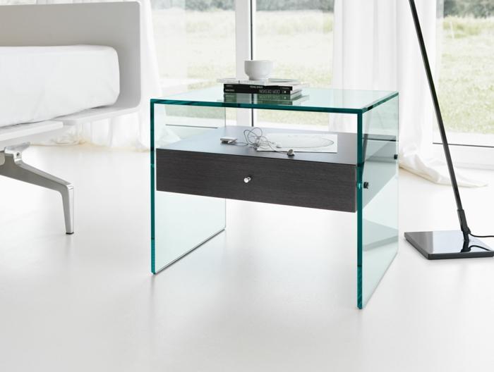 Beistelltisch Glas Macht Jedes Zimmer Schoner