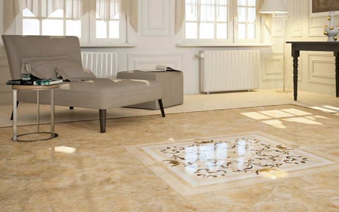 Bodenfliesen wohnzimmer sch ne ideen f r den wohnzimmerboden - Marmorboden wohnzimmer ...