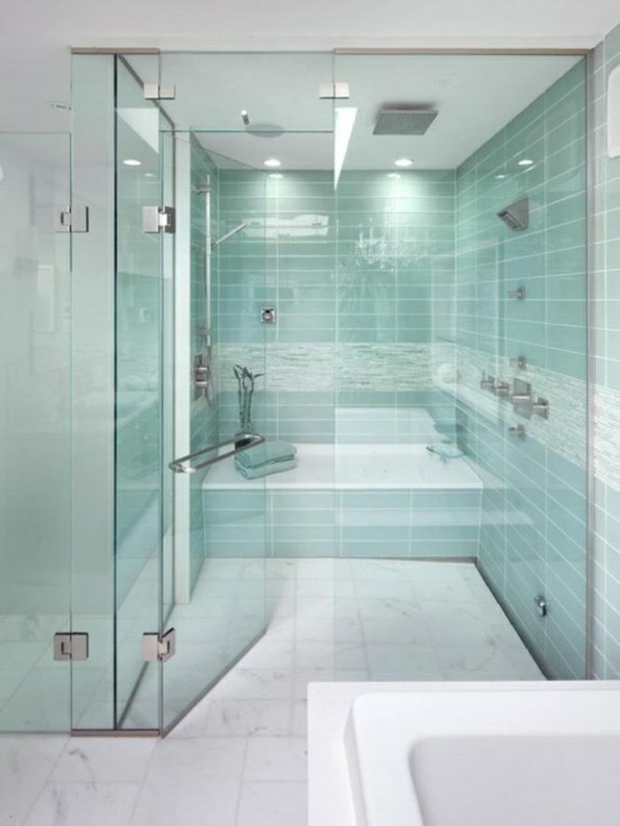 bodengleiche ebenerdige dusche moderne duschkabine glastüren