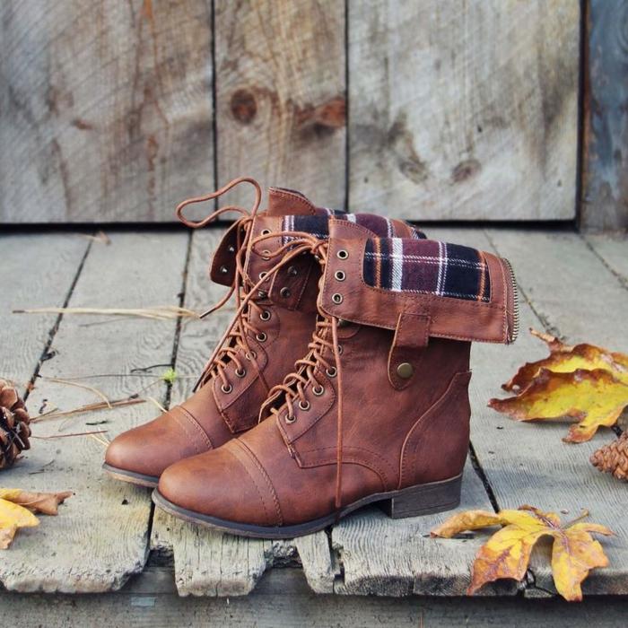 24eff3e2d587 Herbst- und Winterstiefel für Damen in Street Style ...