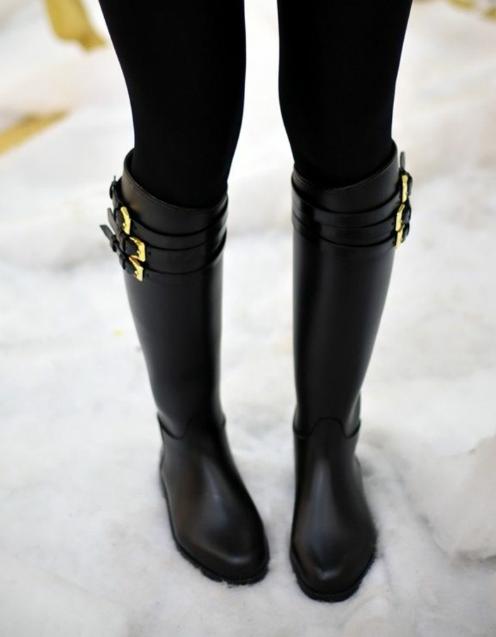 damenstiefel herbst winterstiefel damen schwarz knie