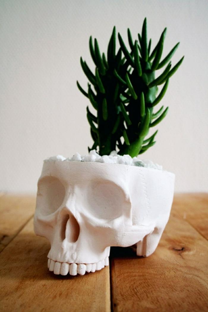 deko halloween cooler pflanzenbehälter zuhause dekorieren