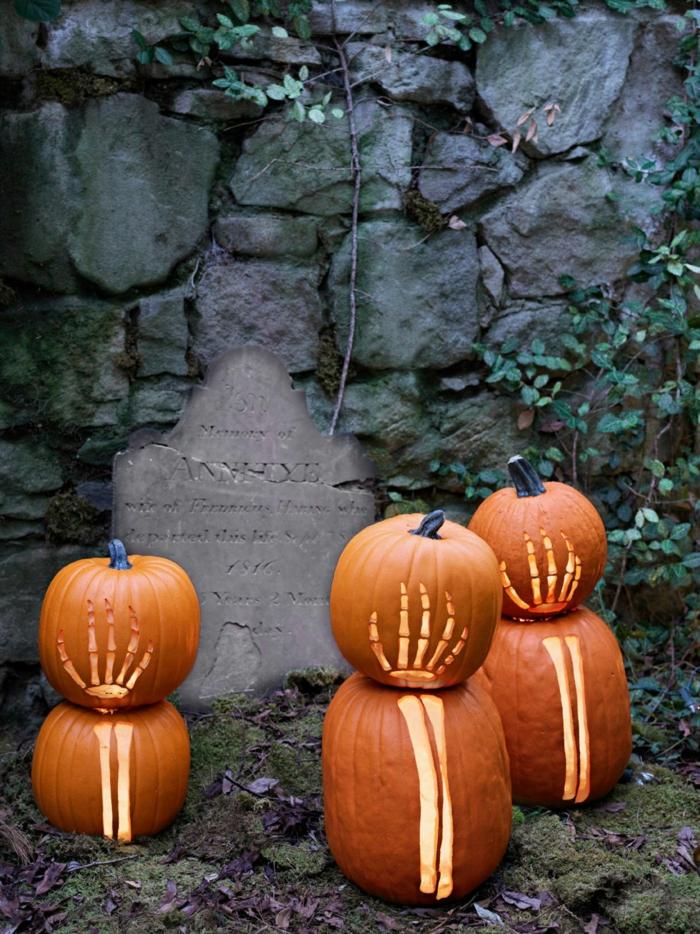 deko halloween kreative ideen kürbisse