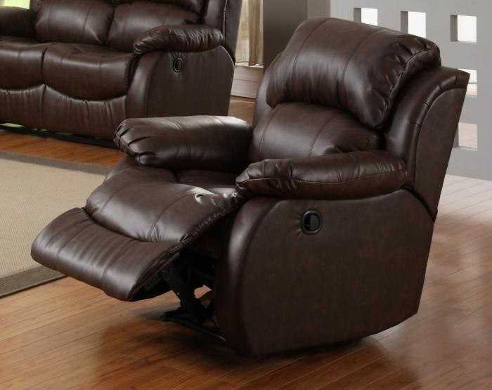 design relaxsessel braun stilvoll komfortabel wohnzimmer ideen