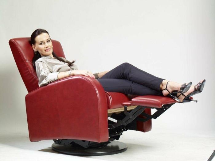 Relaxsessel leder rot : Design relaxsessel ausw?hlen das innendesign