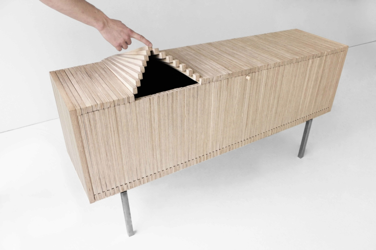 designer sideboard wave cabinet vom designer sebastian errazuriz. Black Bedroom Furniture Sets. Home Design Ideas