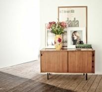 Dielenmöbel aus Massivholz – moderne Eyecatcher im Flur