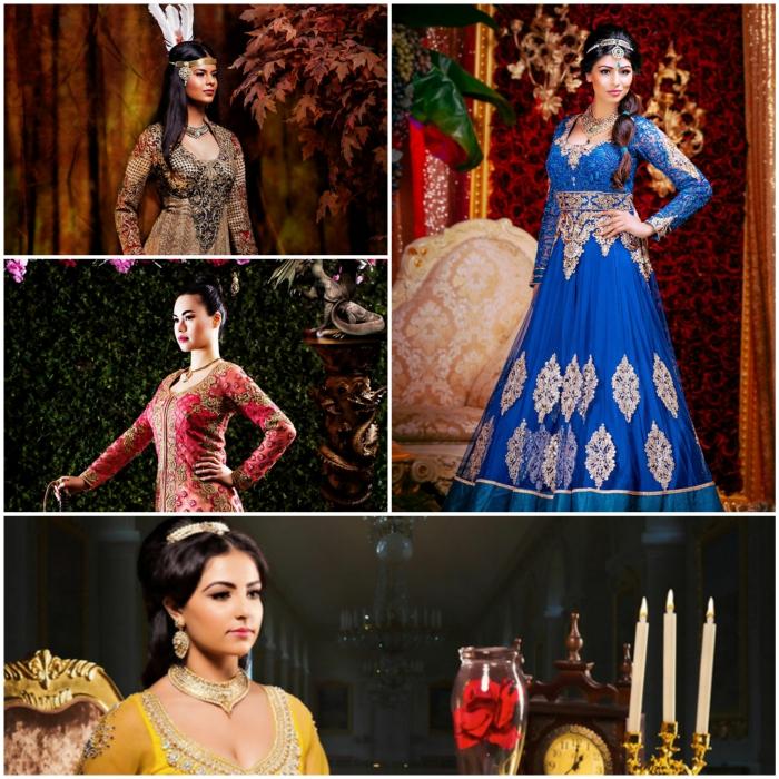 disney-prinzessinnen-ariel-indische-interpretation-filmfituren-collage