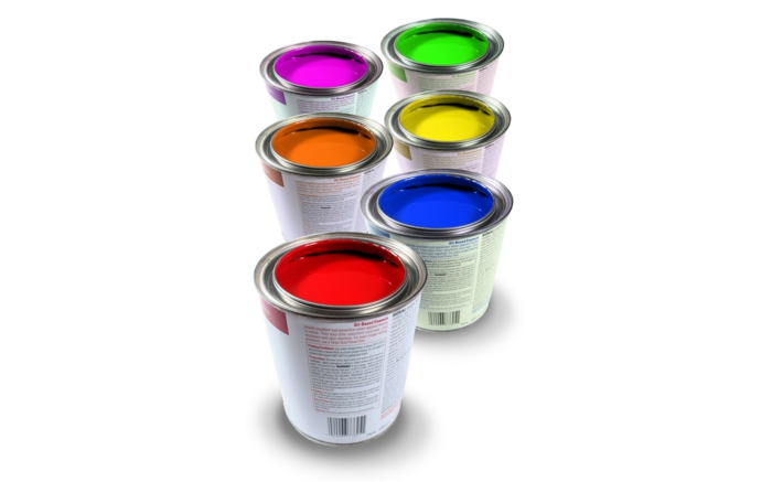 dispersionsfarbe farbenvielfalt wanddekoration