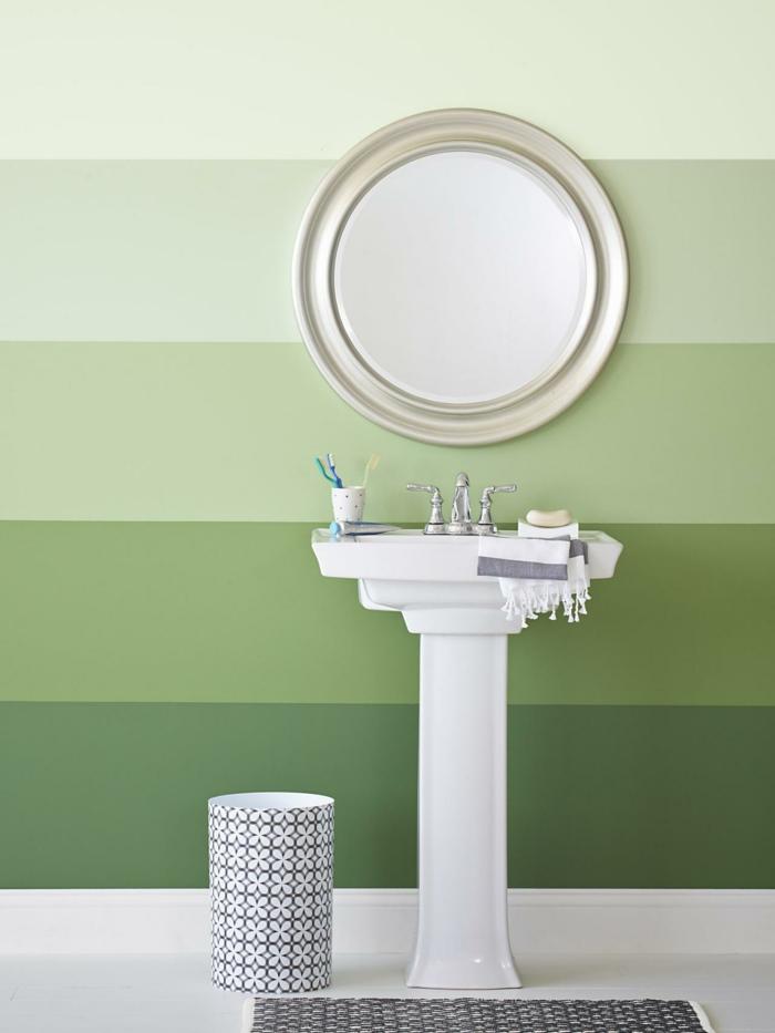 dispersionsfarbe farbpalette streifen badezimmer