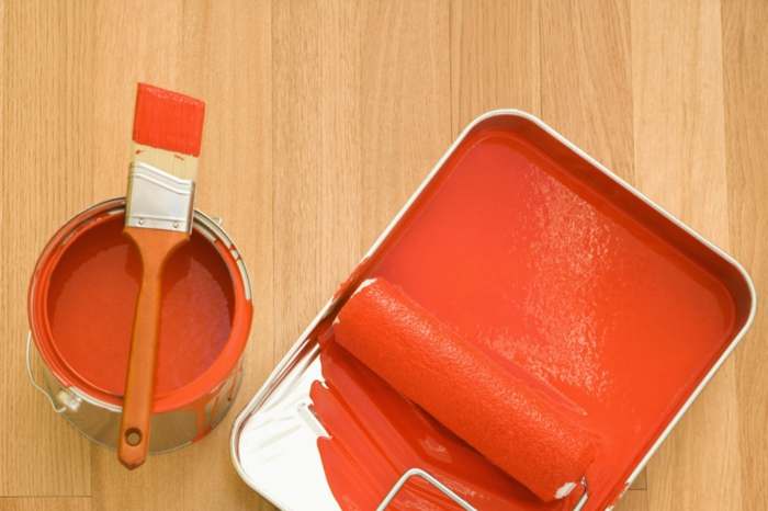 dispersionsfarbe kunstharze bindemittel orange farbe wanddekoration