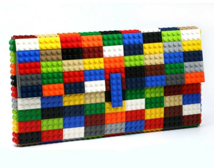 diy projekte lego steine designer handtasche bunt