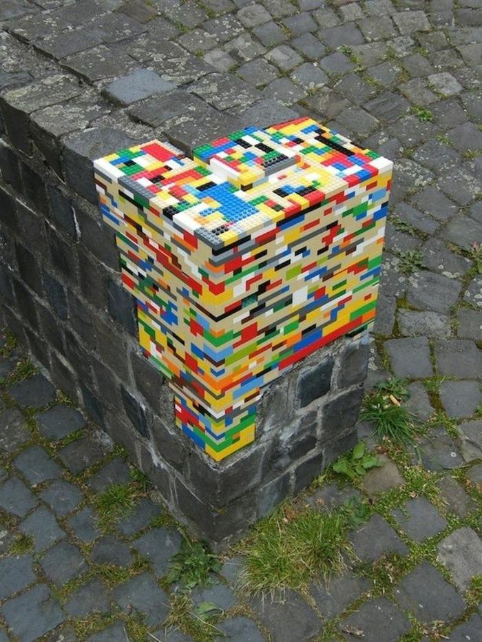 diy projekte lego steine street art kunst