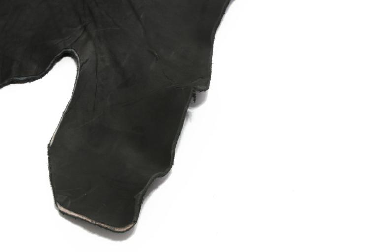 echtes leder softart halbe häute schwarz