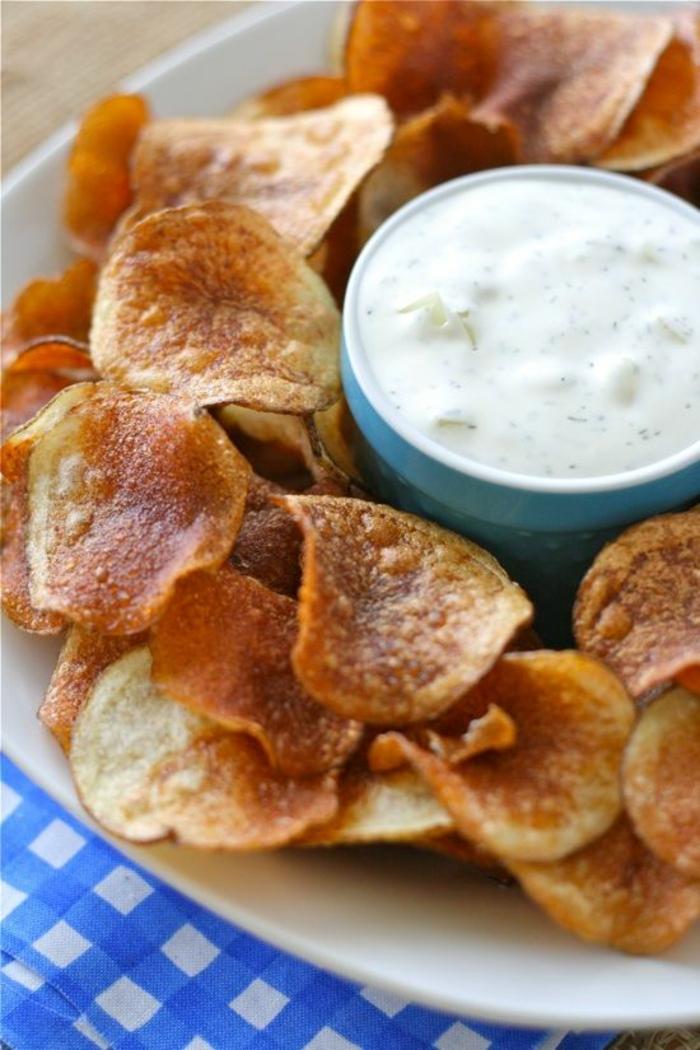 einfache kochrezepte gesunde ernährung chips selber machen