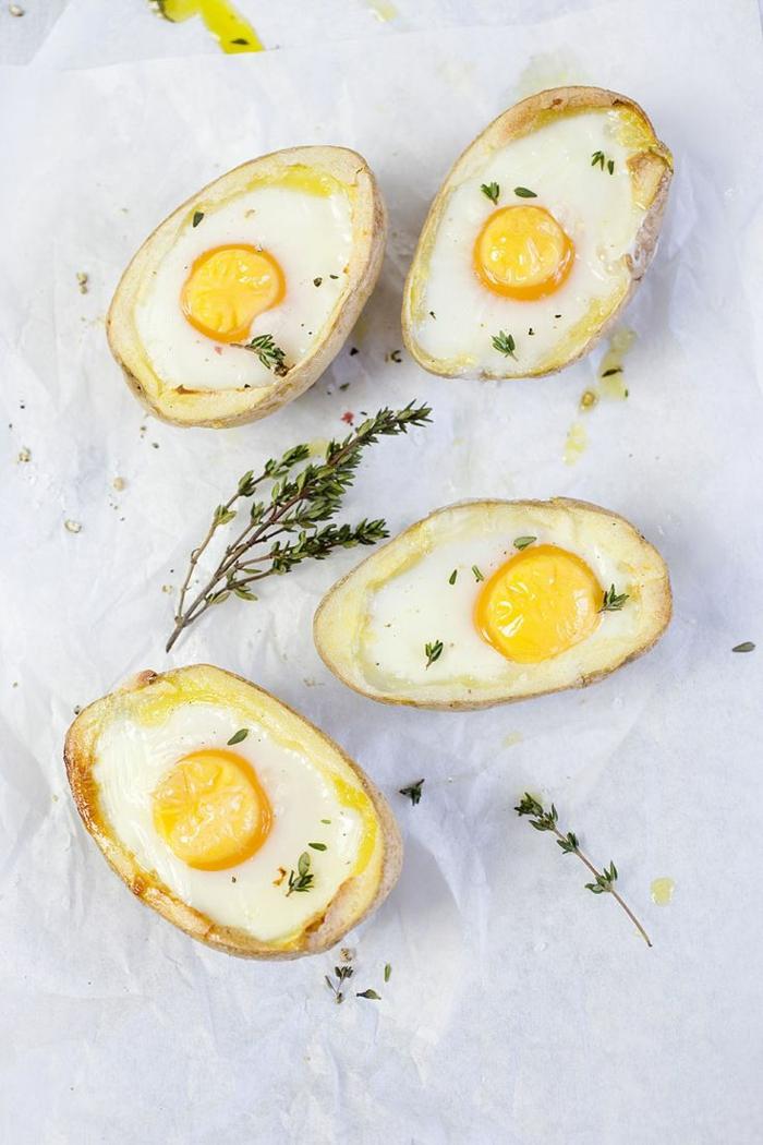 einfache kochrezepte gesunde ernährung kartoffeln mit eier