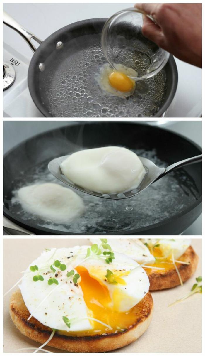 einfache kochrezepte gesunde ernährung pochierte eier
