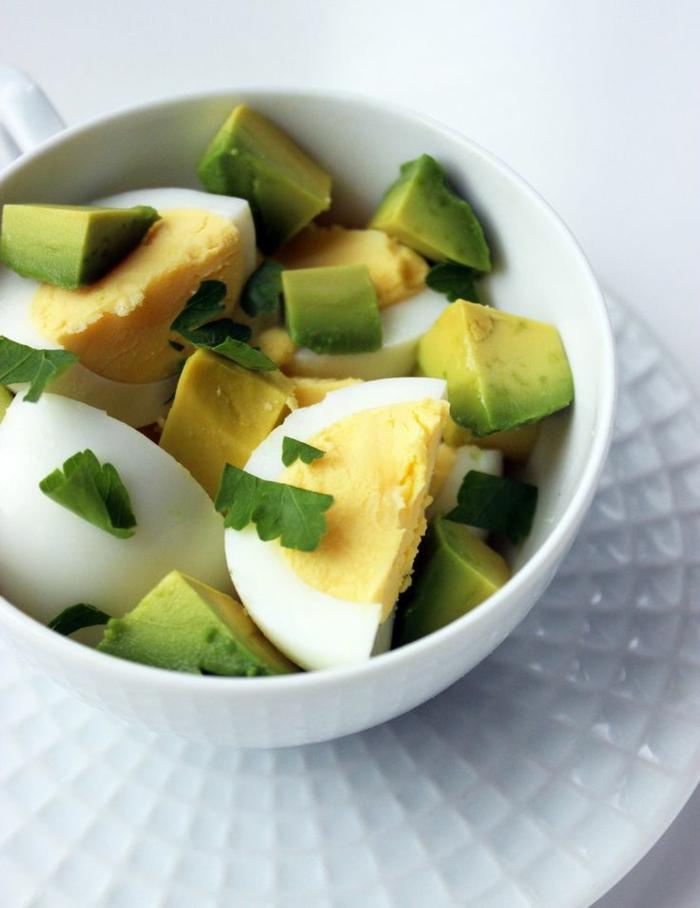 einfache kochrezepte gesunde ernährung salat avocado mit eier