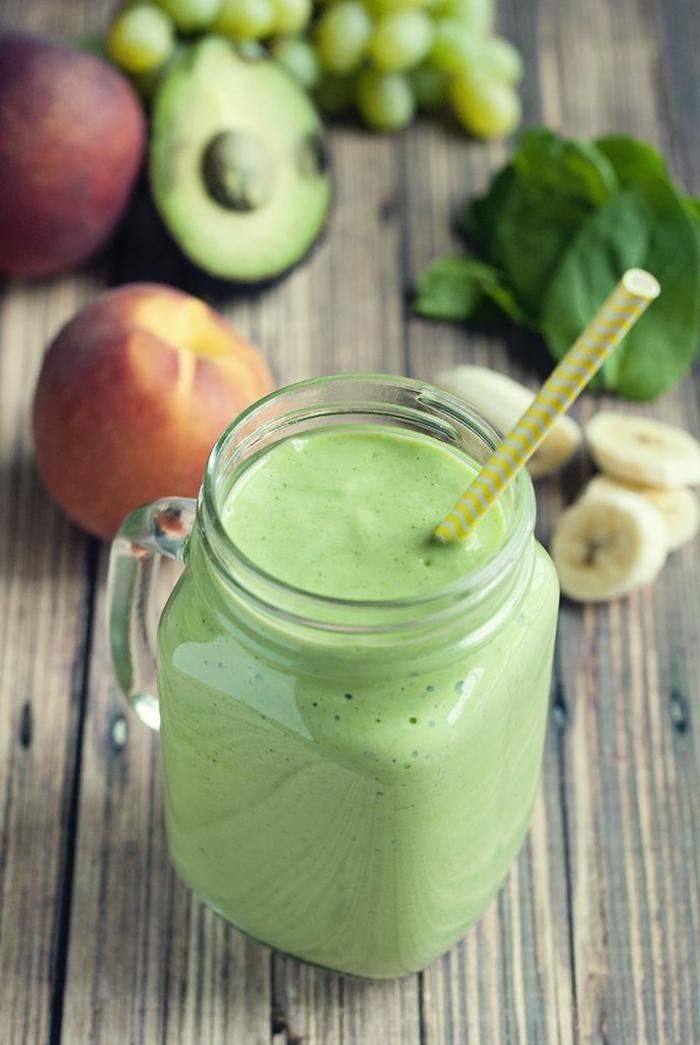 einfache kochrezepte gesunde ernährung smoothie grün