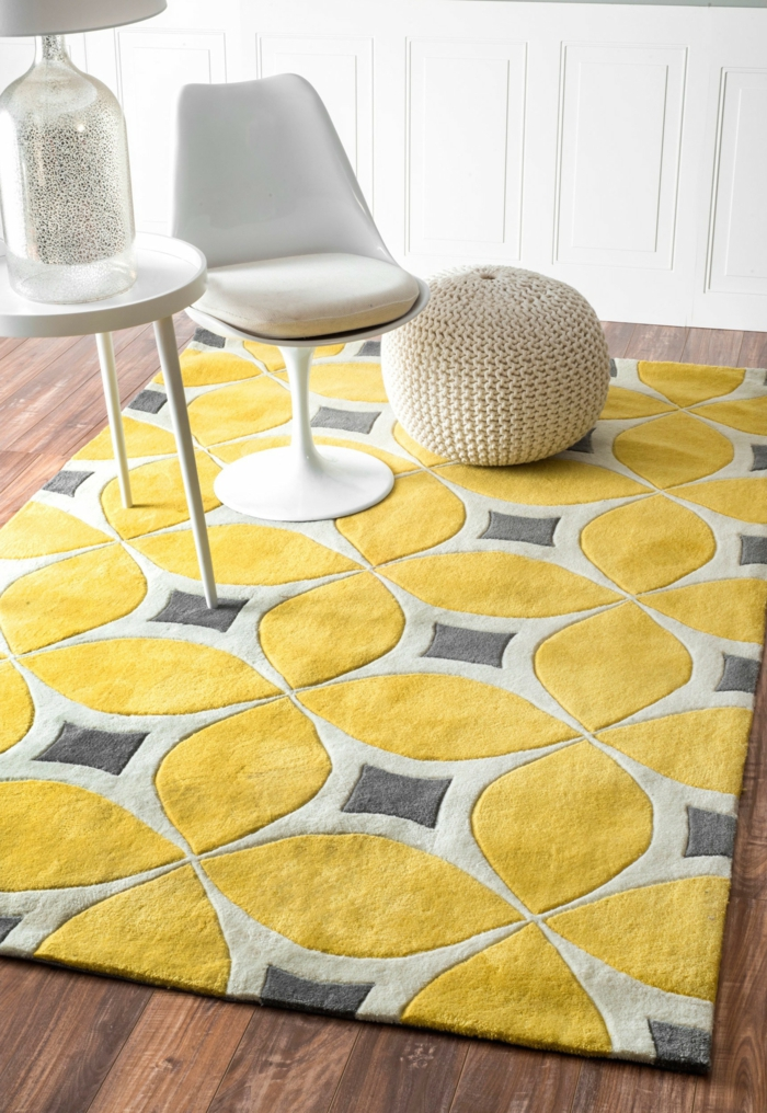 Yellow Area Rug Dining Room
