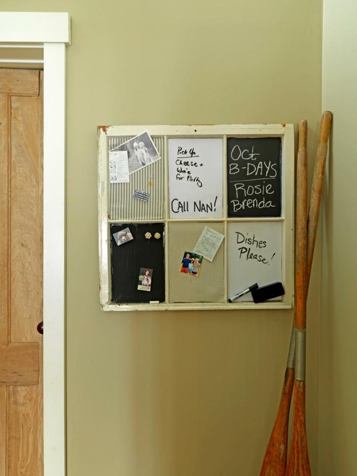 White Kitchen Memo Board