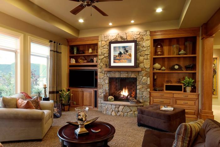 Kaminfeuer und passende deko um den kamin herum for Kamin landhausstil