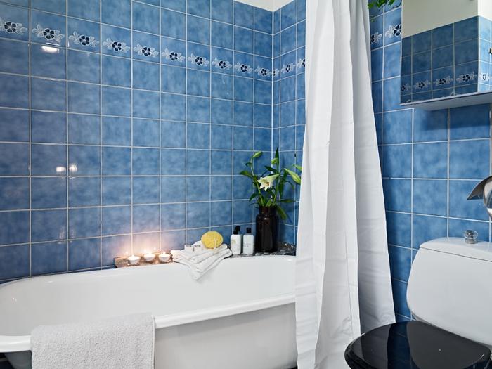 Awesome Fliesen Farbe Bad Ideen Blaue Fliesen Badewanne