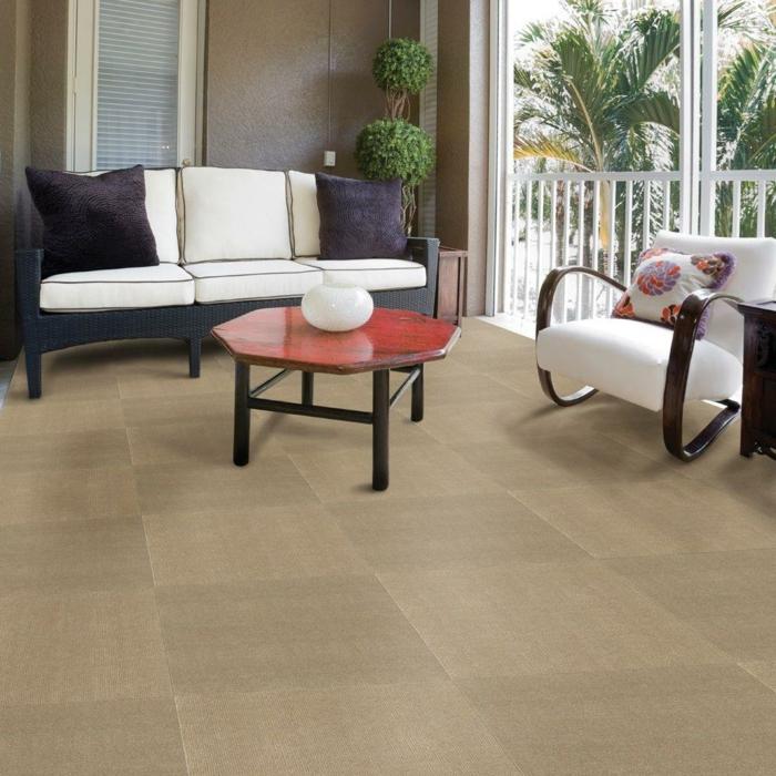 Fliesen Farbe – Neutrale Schattierungen für den Wohnzimmerboden ...