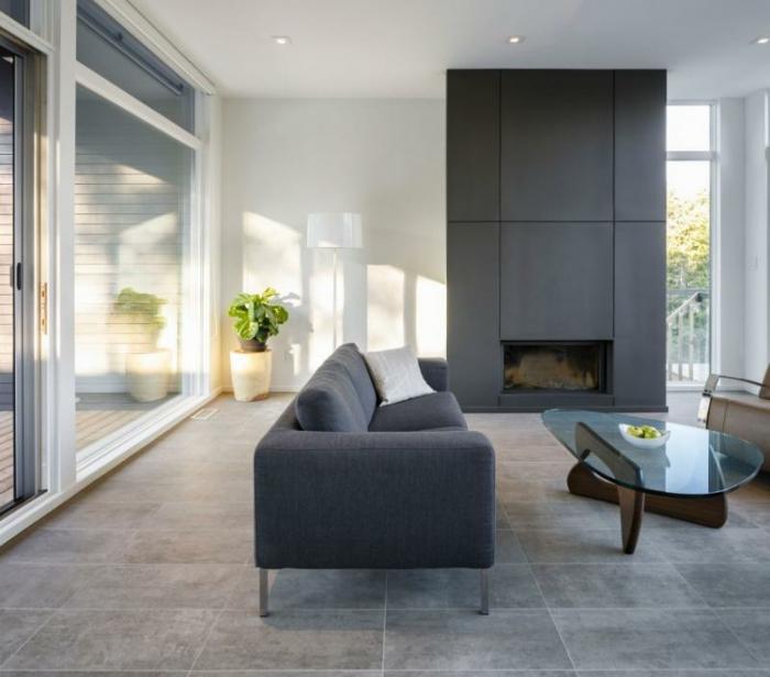 Wohnzimmer Fliesen Hellgrau: Super Elegante Wohnzimmer Als ... Fliesen Grau Wohnzimmer
