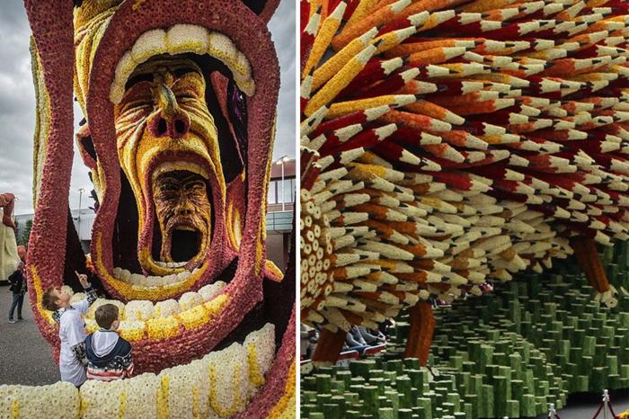 garten skulpturen photo joyce van belkom blumenparade