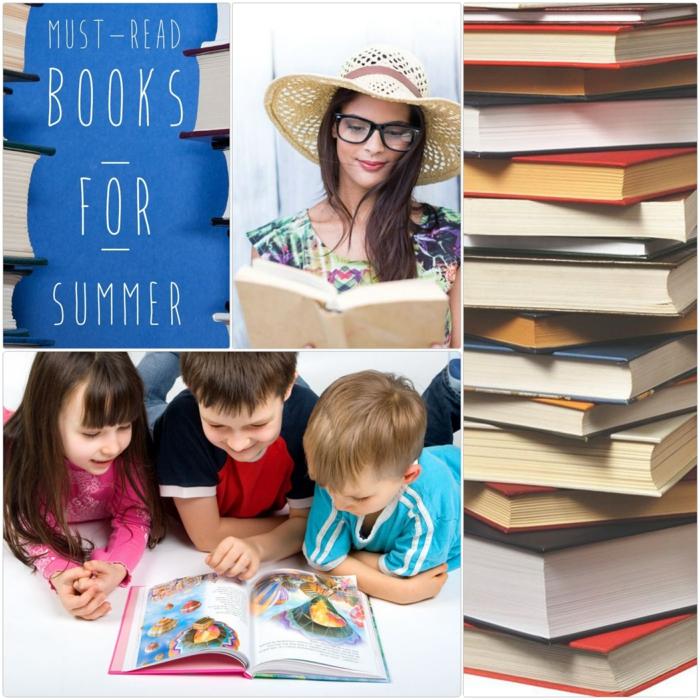 gesunder lebensstil bücher lesen zu hause kinder und erwachsene