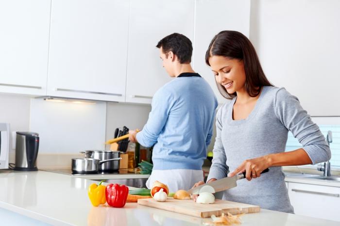 gesundes essen produkte gemeinsam kochen