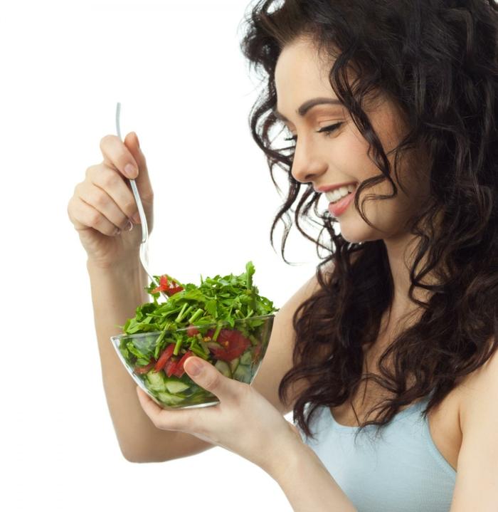 gesundes leben gesunde ernährung salat essen