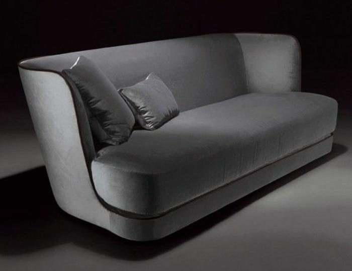 graues wohnimmer sofa italienische polstermöbel