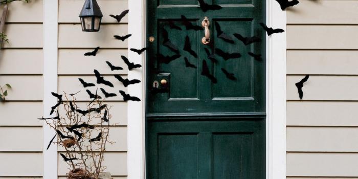 halloween deko diy dreidimensionierte fledermäuse
