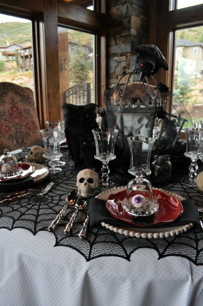 halloween deko typische elemente bei der tischdekoration