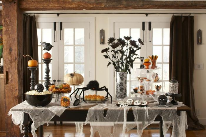 halloween deko zuhause dekorieren tischdeko ideen