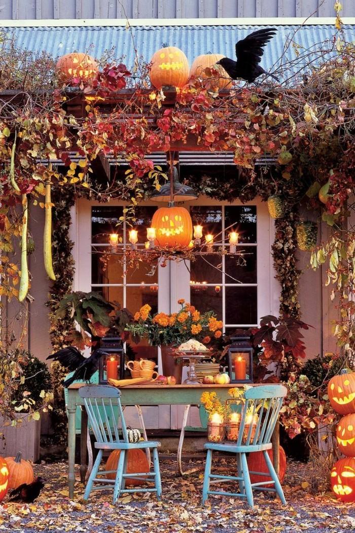 halloween ideen für eine druselparty im freien