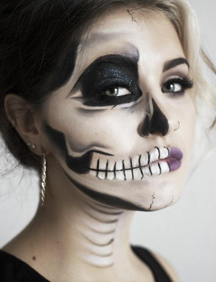 halloween schminkideen für frauen hexe oder dracula frau