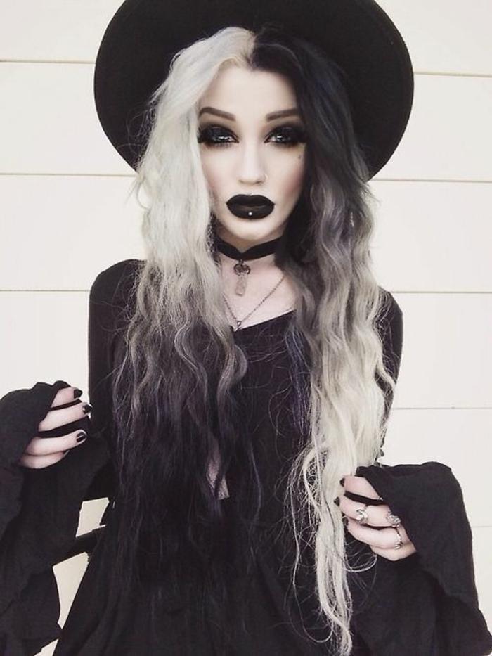 halloween schminkideen kostüme als hexe verkleidet