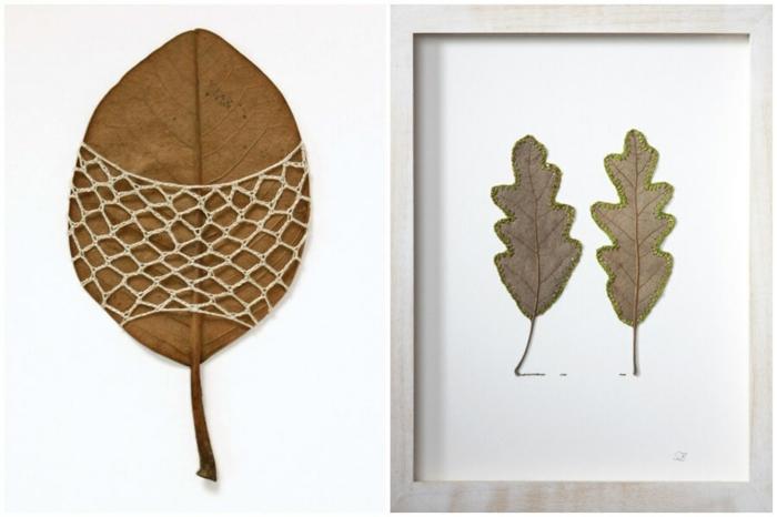 herbstdeko basteln aus herbstblättern wie susanne bauer