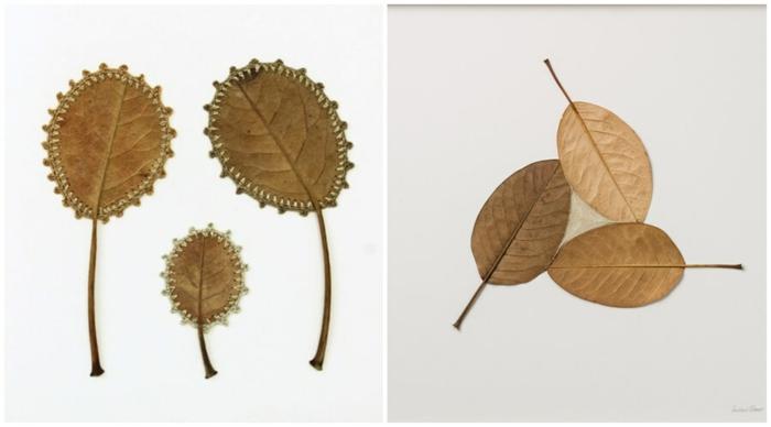 herbstdeko basteln wie susanne bauer kunstwerke aus herbstblättern