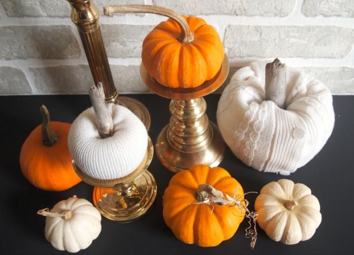 Herbstdeko selber machen – DIY Kürbisse aus dem alten Pulli ...