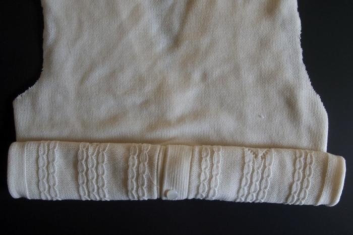 herbstdeko selber machen pullover ärmeln abschneiden