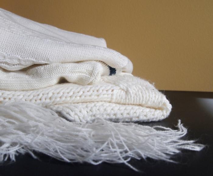 herbstdeko selber machen weißer pullover