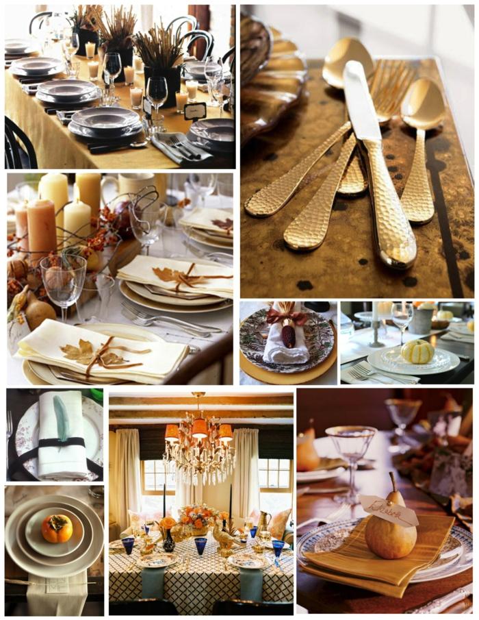 Stilvolle Herbstliche Tischdeko Aus Naturmaterialien
